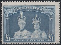 APD629) Australia 1948/9 £1 Robes thin paper, frsh mint unhinged single centred
