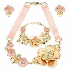 NWT Disney Store Beauty & the Beast Belle Costume Jewelry Set Beauty & the Beast