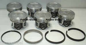 Jeep 4.0L 242 Sealed Power Hypereutectic Pistons+Cast Rings Kit/Set 1996-06 .030