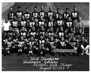 NFL 1938 Washington Redskins World Champion Team Picture  8 X 10 Photo Picture