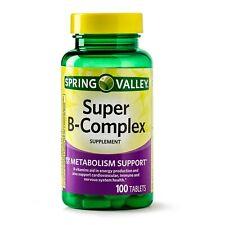 Spring Valley Super B Complex w/Vitamin C & Biotin 100-CT EXP10/22 SAME-DAY SHIP