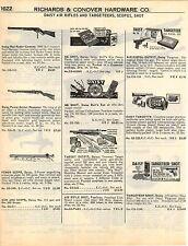 1951 ADVERT Daisy Air Rifle BB Gun Red Ryder Power Scope Target Pistol Outfit