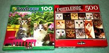 Cats & Kittens  500 & 100 Pc Puzzles - Lot of 2 - Puzzlebug Jigsaw