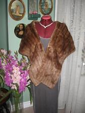 """#45 vintage Women Muskrat Fur Stole wraps blond Brown 62"""""""