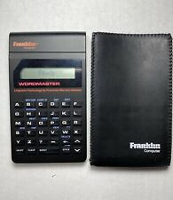 1988 Franklin Wordmaster Electronic Dictionary model: WM-1200 With Case