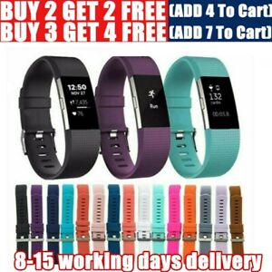 For Fitbit Charge 2 Straps Silicone Watch Bands Bracelet Replacement Wristband