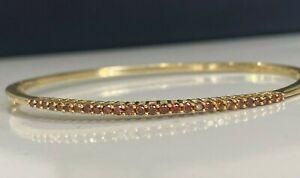 14k solid gold & Orange Diamond Bangle 8.84g