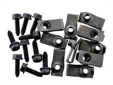 Body Bolts & U-nut Clips- M6-1.0 x 20mm Long- 10mm Hex- 20 pcs (10ea)- LD#135