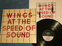 BEATLES PAUL McCARTNEY WINGS AT THE SPEED OF SOUND AUDIOPHILE LP VINYL RECORD NM