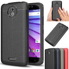 Rugged TPU Case Leather Phone Back Cover For Moto G5 G4 Sony XA1 XZ1 Nokia 5 6 8