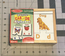 Melissa & Doug PUZZLE CARDS ALPHABET in Wooden Box For Ages 4+ New Sealed