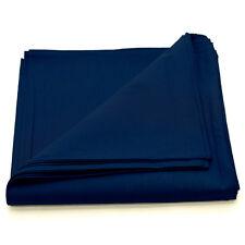 12 pieces(1dozen) Bandanas Head Wrap Scarf 100% cotton Plain Solid Navy