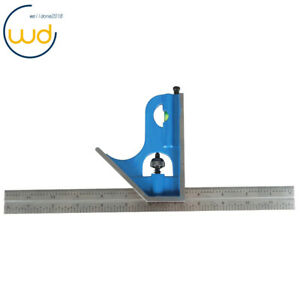"""12"""" 2 Pcs 4R Combination Square Double Side With 4 Grade 8/16/32/64 Steel"""