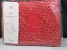 New Travelus Toiletry Cosmetic Make Up Bag Makeup Organizer-Red Diamond
