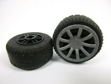 LEGO x2 Black Wheel Réf 55982 + 58090 + 62701 Set 8163 7967 8185 8634 8228 8183