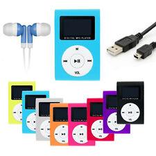 Lettore MP3 display Blau turchese clip LCD micro SD 16 GB + accessori pacchetto io.