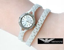 EMPORIO ARMANI LADIE'S WHITE WRAP CERAMIC WATCH AR1482