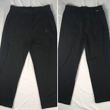 ADIDAS black climawarm thick sweatpants MENS LARGE pockets L
