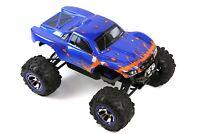 Custom Body Muddy Blue Orange for Traxxas Summit / Slash 1/10 Truck Cover Shell
