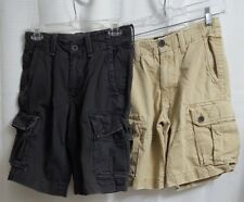 (lot of 2) American Eagle Classic Fit Cargo Shorts sz 26 (W12)