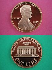 1989-S Proof Lincoln Memorial Cent Penny Deep Cameo Flat Rate Shipping