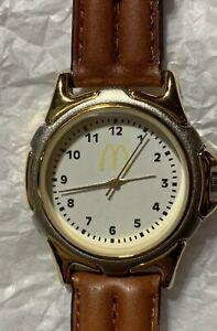 Golden Arches McDonalds Employee Timecal Watch Japan Mvmt. Vintage 90s