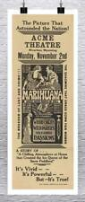 Marijuana Acme Theater Vintage Cannabis Poster Rolled Canvas Giclee 17x41 in.