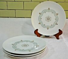 qty 4 Vintage Noritake Linfield 112 Salad Plates Brown Flowers Blue Yellow Ring