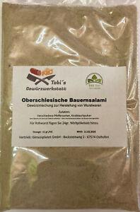 Oberschlesische Bauernsalami Gewürzmischung 100gr Wurstherstellung ohn Pökelsalz