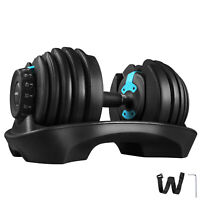 24kg Adjustable Dumbbell Set Home Gym Exercise Equipment Weight Fitness