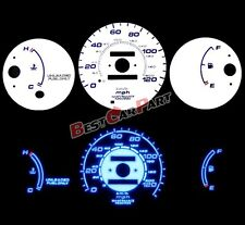 WHITE 96-00 Civic MT w/o Tach BLUE INDIGLO GLOW Reverse GAUGES