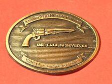 NRA BELT BUCKLE NRA WHITTINGTON CENTER GUNS OF THE SANTA FE TRAIL HAWKEN RIFLE