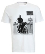 Steve Mcqueen 'The Great Escape' Classic Motorcycle T-shirt / Tee