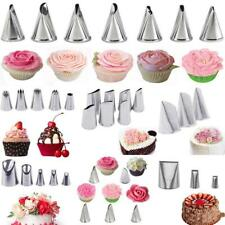 38Pcs Russian Flower Icing Piping Nozzles Cake Tips Pastry Tool Set Cream Bag UK