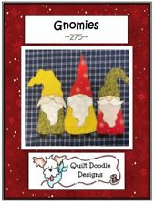 Applique Gnomes Pattern by Quilt DOODLE Designs Quilting Sewing Crafting