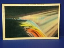 Prospect Poing by Illumination Niagara Falls 1940 Vintage Color Postcard PC7