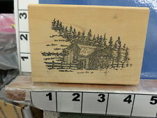 cabin in the woods forest rubber stamps 33o