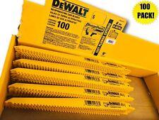 """(100) DEWALT 9"""" DW4803B SAWZALL SAW BLADES 6TPI BI METAL & WOOD W/ NAILS"""