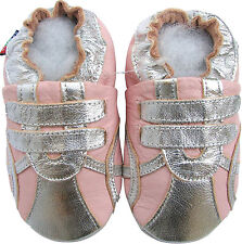 shoeszoo sports silver pink 12-18m S soft leather baby shoes