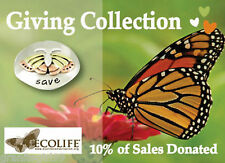 Save Butterflies Tie Tack I Love Butterflies Lapel Pin Mima Oly 10% Donated