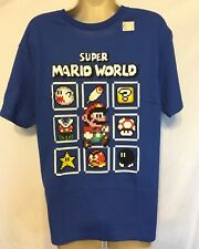 Super Mario World Boys Shirt Large Blue New Without Tags Mario Brothers