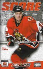 Ottawa Senators - Montreal Canadiens 30.3.2007 NHL Hockey Off. Program Fisher