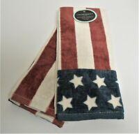 Cynthia Rowley Stars & Stripes Set of 2 Kitchen Tea Dish Towels