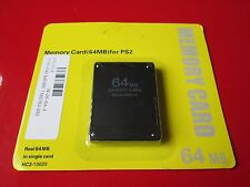 64mb 64 Mb Black Memory Card For PS2 Ps 2 Playstation 2 UK Seller TESTED
