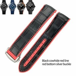 19-22 mm Nylon Leather Rubber Watch Band Strap For Omega Planet Ocean Seamaster