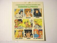 ADESIVO anni '80 / Old Sticker Vintage LADY OSCAR corriere piccoli (cm 9x9) e