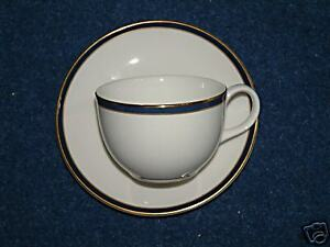 6 Royal Doulton Oxford Blue Cups & Saucers-Never Used