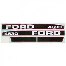 New Ford 4630 Red/Black Hood Decal Set