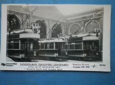 POSTCARD RP SUNDERLAND TRANSPORT CENTENARY - LINEUP OF DECORATED BUSES / TRAMS