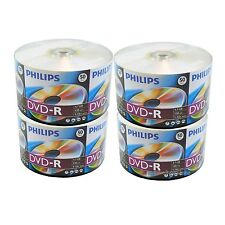 200 PHILIPS 16X Blank DVD-R DVDR Disc 4.7GB Shrink Wrap 2 x 100